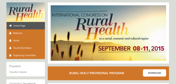 International Congress on Rural Health - realizzazione sito web